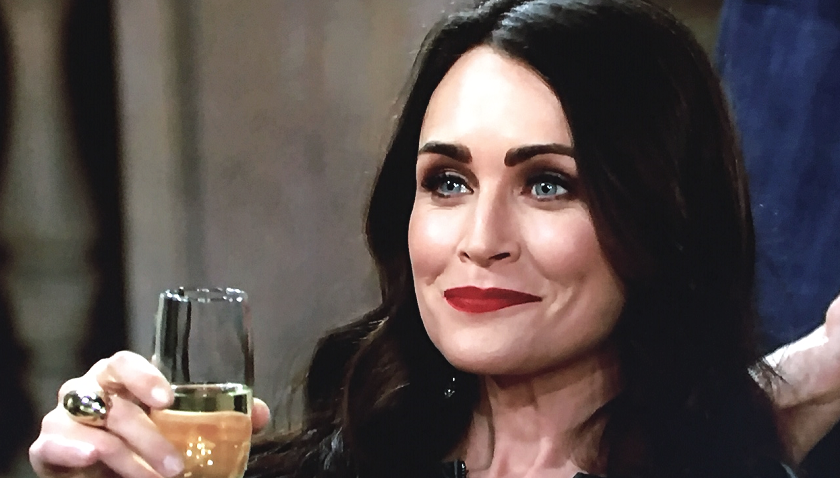 Bold And The Beautiful Scoop: Quinn Forrester Watches Brooke Forrester's Downfall With Glee