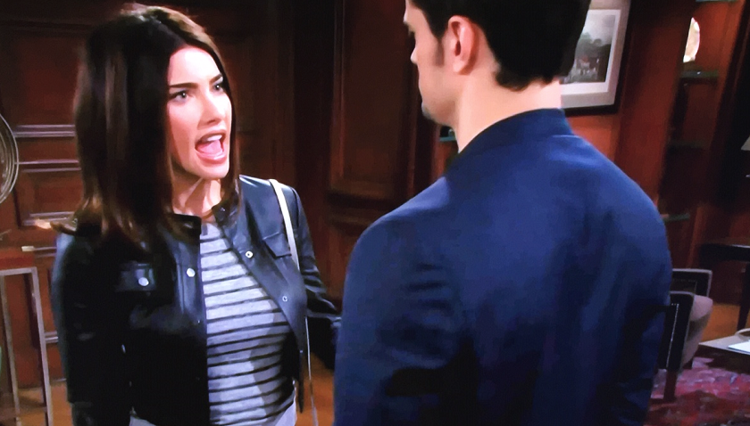 Bold And The Beautiful Scoop: Steffy Forrester Yells At Thomas Forrester