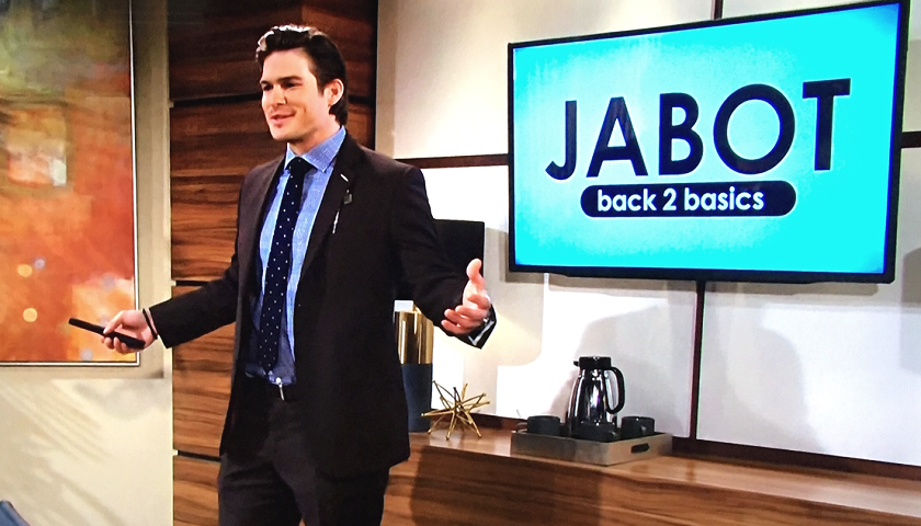 Young And The Restless Scoop: Theo Vanderway Pitches A 15-Year-Old Idea To Jack Abbott