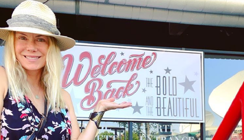 Bold And The Beautiful Scoop: Katherine Kelly Lang In Front Of Television City's LA Studio