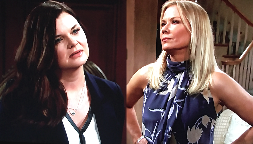 Bold And The Beautiful Scoop: Katie Logan And Brooke Forrester Try To Mend Fences