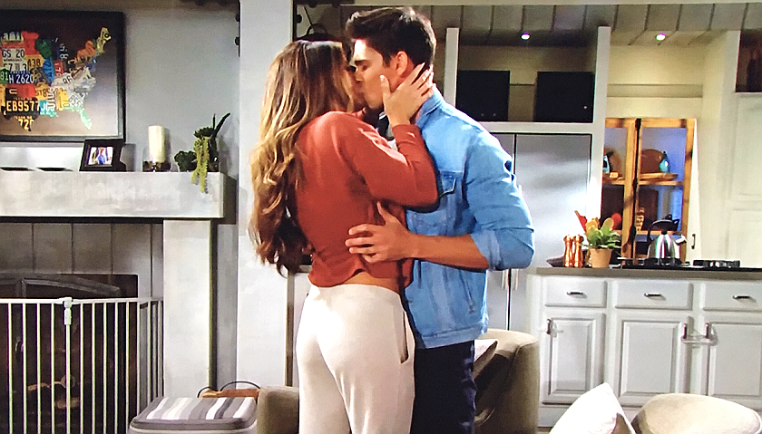 Bold And The Beautiful Scoop: Steffy Forrester Kisses Finn