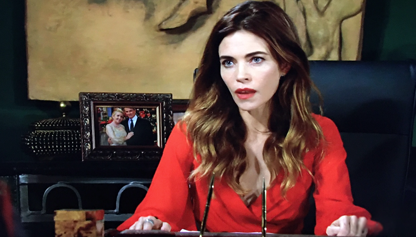Young And the Restless Scoop: Victoria Newman talks to her brother and father