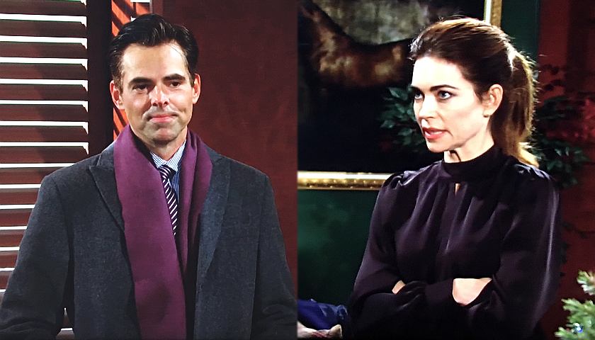 Young And The Restless Scoop: Victoria Newman Talks To Billy Abbott