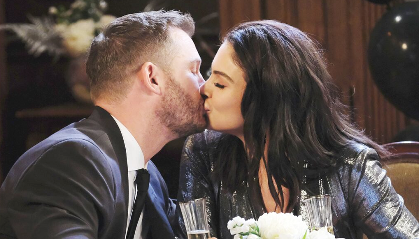 Days Of Our Lives Scoop: Brady Black And Chloe Lane Share New Year's Kiss