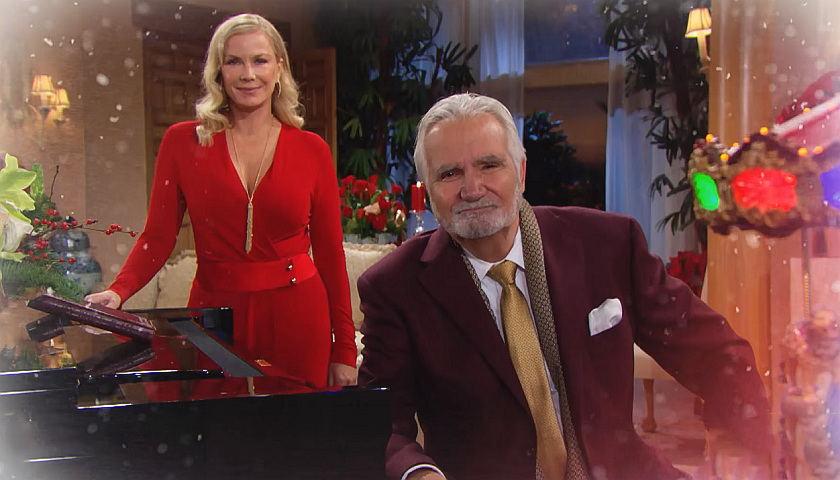 Bold And The Beautiful Scoop: Brooke Forrester And Eric Forrester Celebrate Christmas