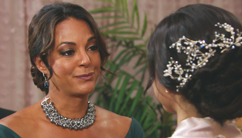 Young And The Restless News: Celeste Rosales With Lola Rosales On Her Wedding Day