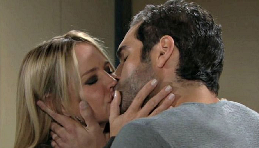 Young And The Restless Poll: Sharon Newman And Rey Rosales Kiss