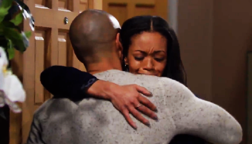 Young And The Restless Scoop: Amanda Sinclair Hugs Devon Hamilton