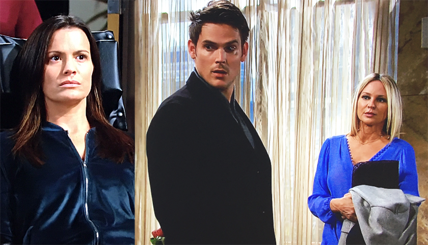 Young And The Restless Scoop: Chelsea Newman Sees Adam Newman And Sharon Newman Together