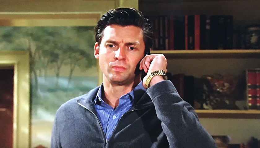 Young And The Restless News: Chance Chancellor Takes A Cryptic Phone Call