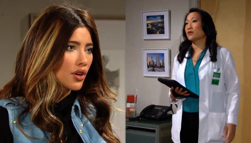 Bold And The Beautiful Scoop: Steffy Forrester Asks Dr. Campbell For The Results