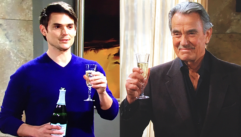 Young And The Restless Scoop: Victor Newman And Adam Newman Celebrate Their Win
