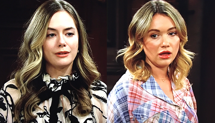 Bold And The Beautiful Scoop: Hope Spencer Refuses To Forgive Flo Fulton