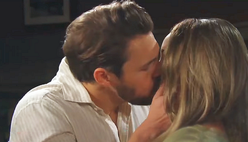 Bold And The Beautiful Scoop: Liam Spencer Kisses Hope Spencer