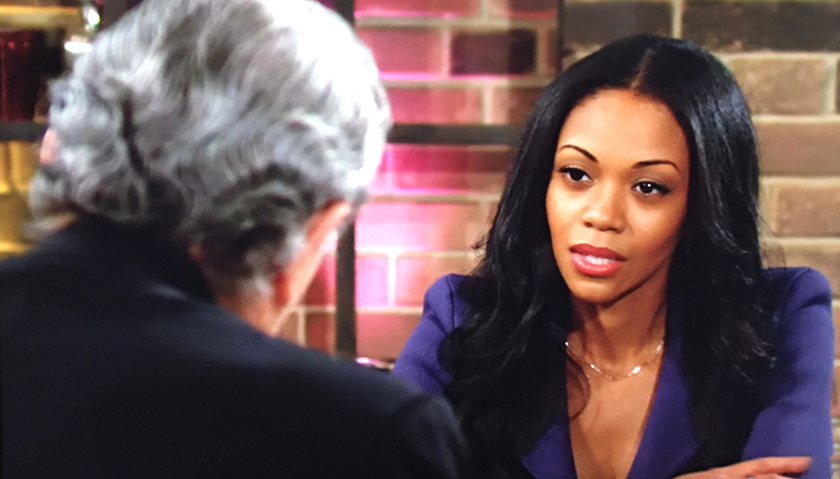 Young And The Restless Scoop: Amanda Sinclair Tries To Explain Her Position To Victor Newman