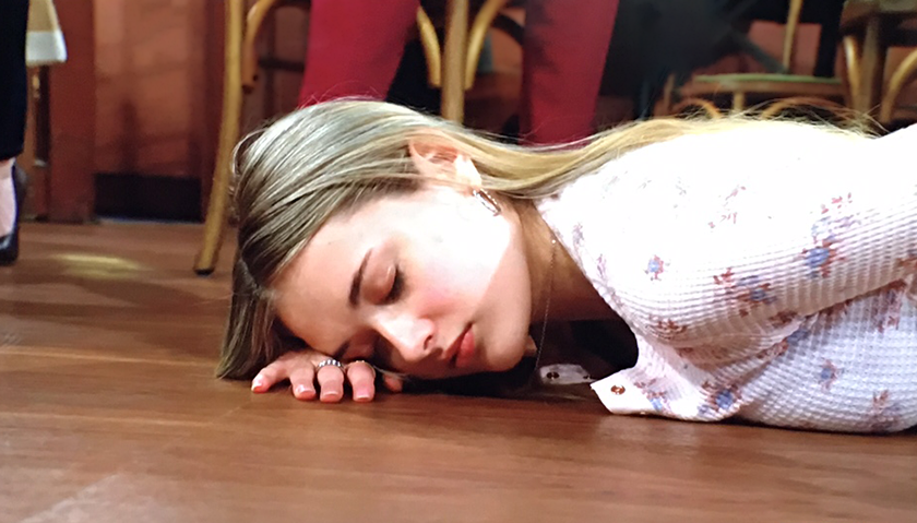 Young And The Restless Scoop: Faith Newman Collapses To The Floor