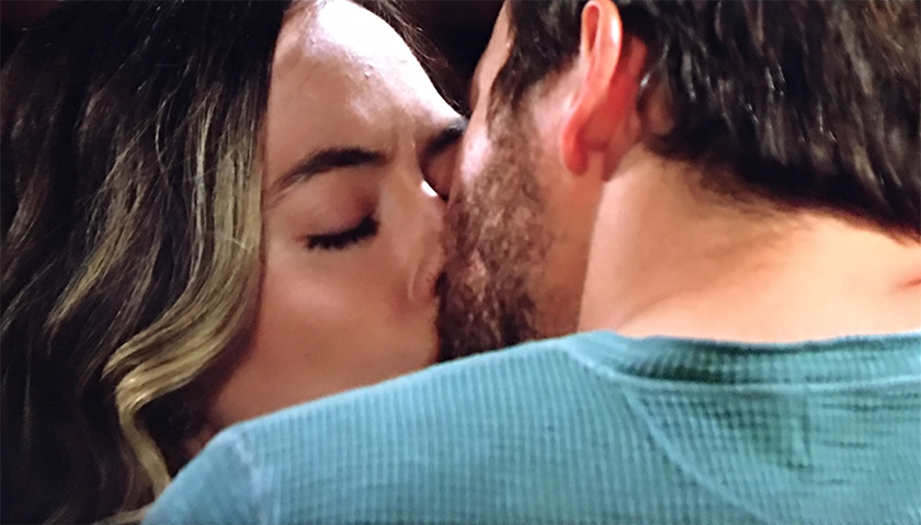 Bold And The Beautiful Scoop: Hope And Liam Spencer Kiss