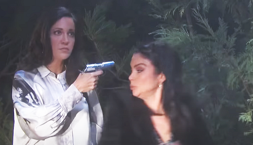 Days Of Our Lives Scoop: Jan Spears Holds A Gun To Chloe Lane's Head