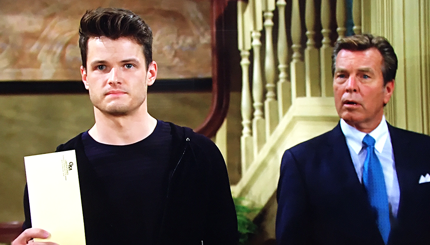Young And The Restless Scoop: Kyle Abbott Holds And Envelope Containing The Paternity Results