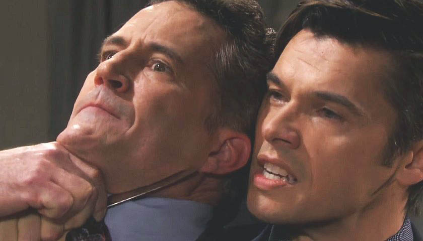 Days Of Our Lives Scoop: Xander Cook Threatens Dr. Snyder With A Knife