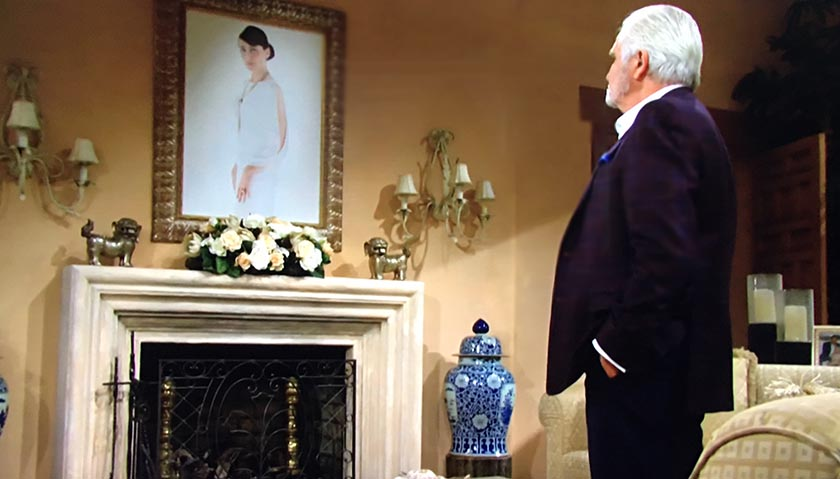 Bold And The Beautiful: Eric Forrester Stares At His Wife's Portrait