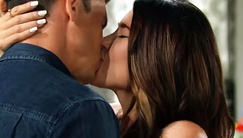 Bold And The Beautiful: Steffy Forrester And John Finnegan Kiss